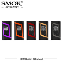 100 Original Electronic Cigarette SMOK Alien 220w Mod TC Box Mod 510 Thread Vaporizer Match For