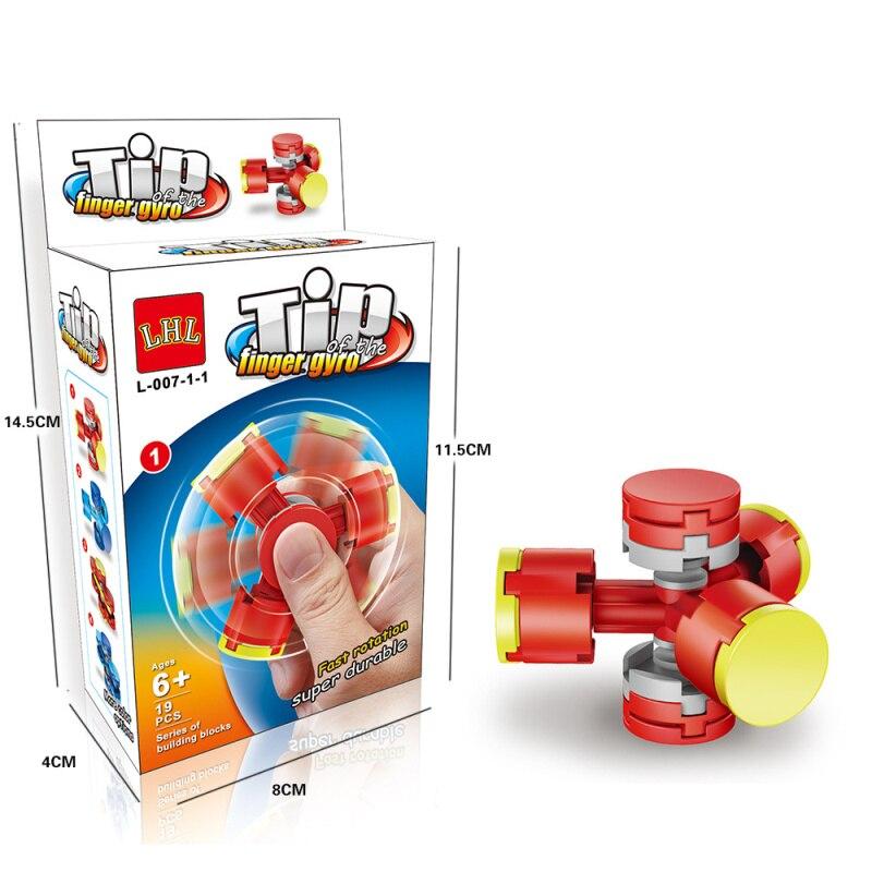 2017 New Finger Gyro Blocks Fidget Toys Tri-Spinner Mini Blocks Hand Spinner For Boy Girl Anti Stress Toys Gift