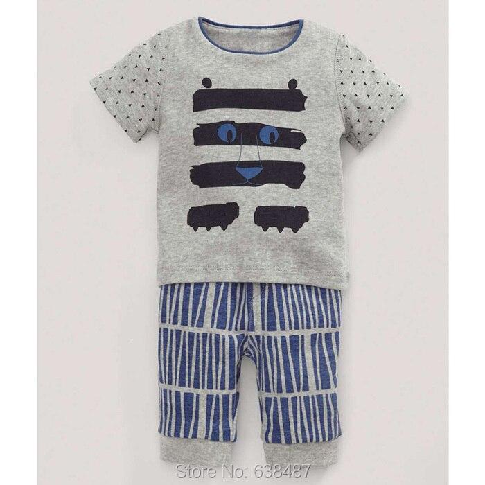 2017 Brand Quality 100% Cotton Baby Boys Clothing Set Summer Children's Kids Short Sleeve Boy Clothes - JK Store store