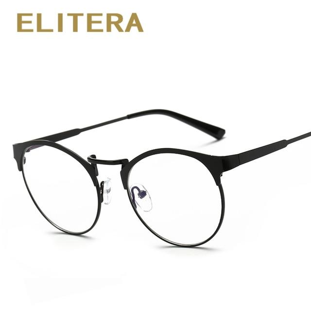 02e9d8f18e2d7 ELITERA Retro marca rodada óculos de armação de óculos simples do vintage  para mulheres dos homens