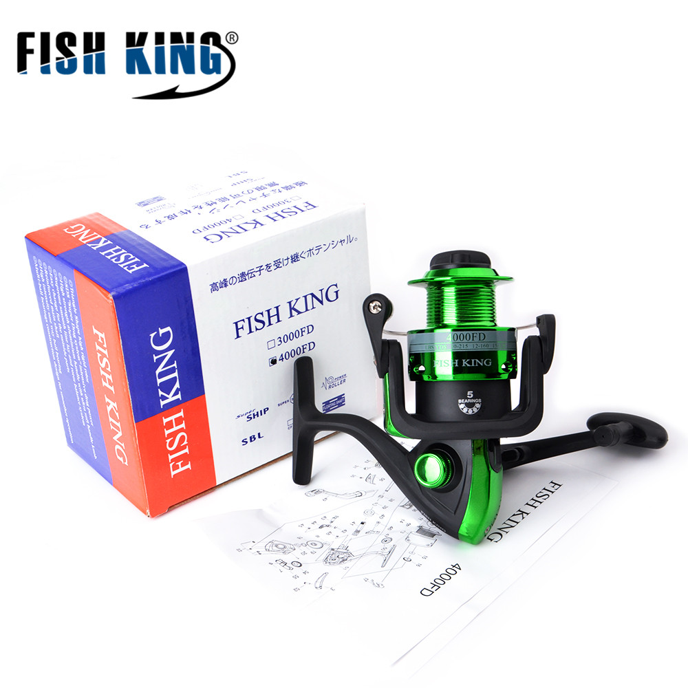 FISH KING 5.1:1 5BB FD/RD 2000/3000/4000/5000 Spinning Reel Fishing Reel Spinning Reel Casting Fishing Reel Lure Tackle free shipping black hawk ecooda second generation metal body spinning reell lure fishing reel fish reel