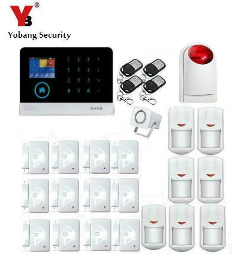 Yobang безопасности rfid Умный дом приложение Дистанционное управление голосовые подсказки GSM сигнализация Системы Wi Fi GPRS смс alarma проводной/Бес