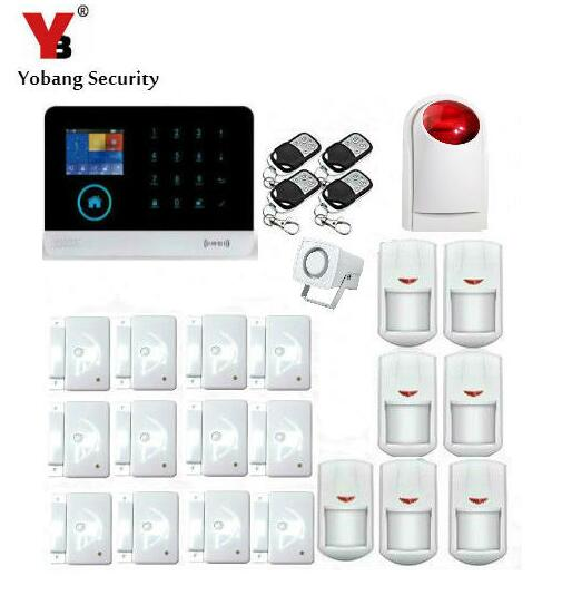 Yobang Security RFID Smart Home APP Remote Control Voice Prompt GSM Alarm System WiFi GPRS SMS Alarma Wired/Wireless Siren Kits long distance 2 4g wireless networking module uart serial transceiver zigbee self organizing intelligent light control