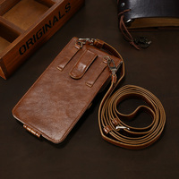 Retro Universal Vertical Flip PU Leather 5 5 Phone Bag Case Waist Bag Multi Function Wallet