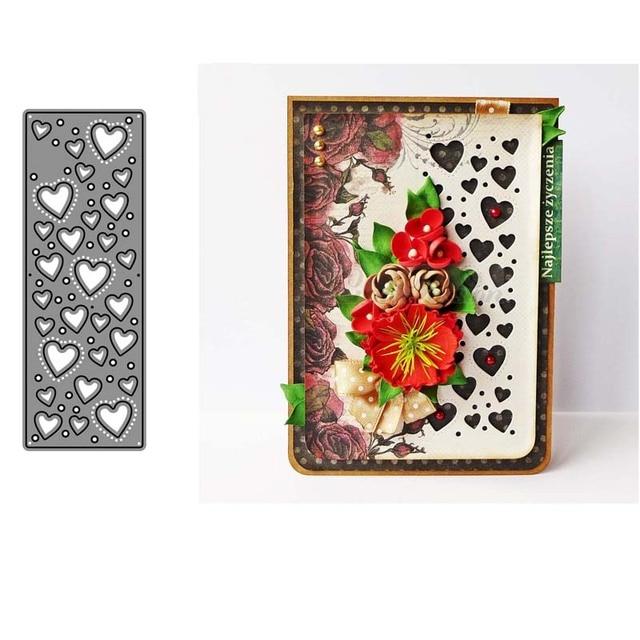 AddyCraft Metal Cutting Dies cut die mold Background with hearts Scrapbook paper craft knife mould blade punch stencils dies