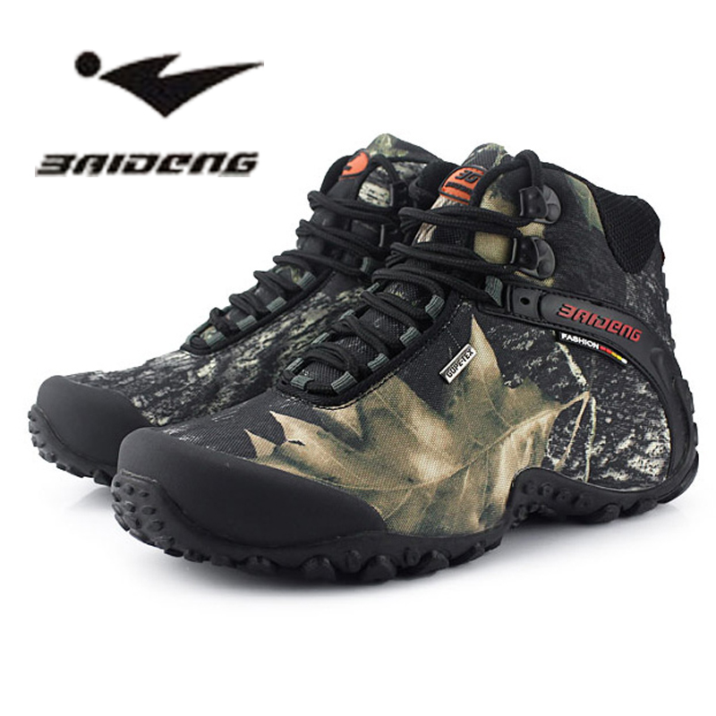 Brand Men's hiking shoes anti-skid mountain climbing boots outdoor athletic breathable men Graffiti trekking waterproof - jiajia Outdoor Co., Ltd. store