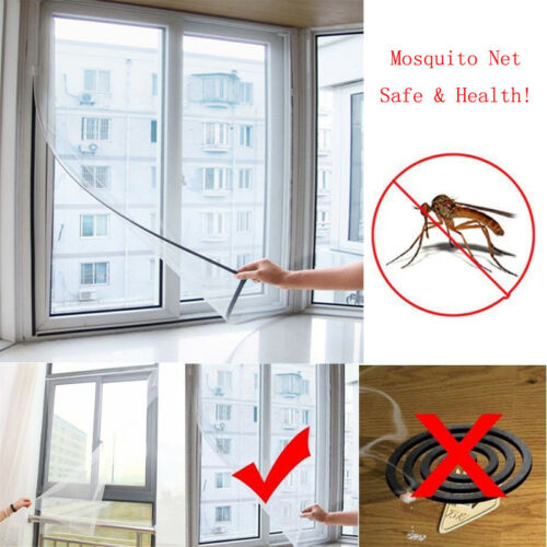 1x Home Window Mesh Door Curtain Snap Netting Guard Mosquito Fly Bug Insect Screen Protect Hot