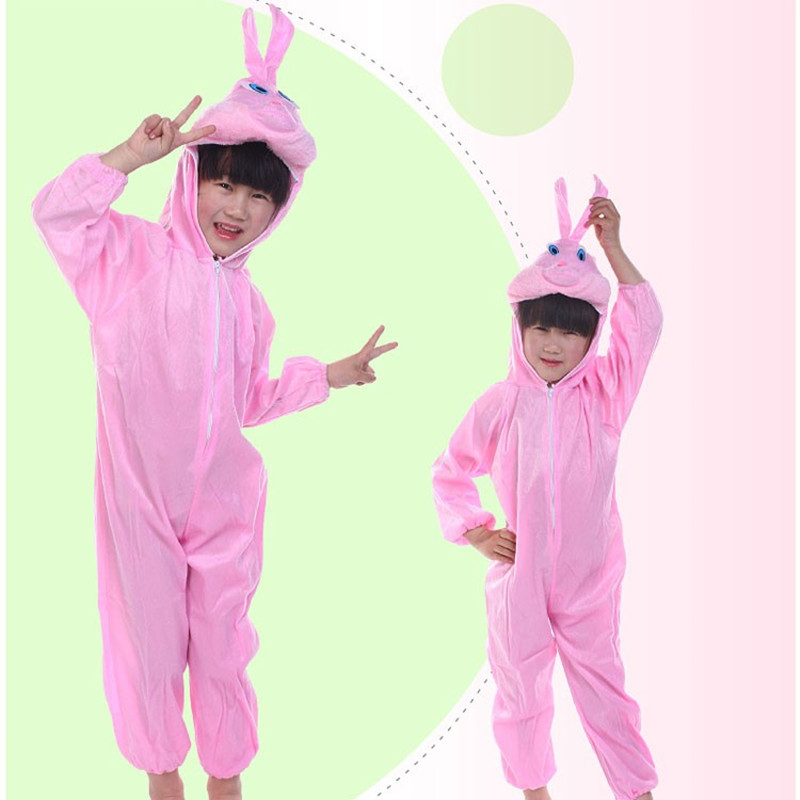 Children School Party Dress Boy Girl Halloween Cute Cartoon Animal Red Rabbit Cosplay Costumes For Kids Animals Jumpsuit