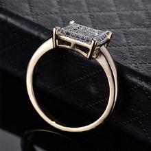 Women's Retro Style Ring with Square Zirconia Decoration