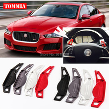 tommia 2pcs Steering Wheel Aluminum Shift Paddle Shifter Extension For Jaguar XE 2015-2017 Car-styling tommia 2pcs steering wheel aluminum shift paddle shifter extension for hyundai veloster car styling