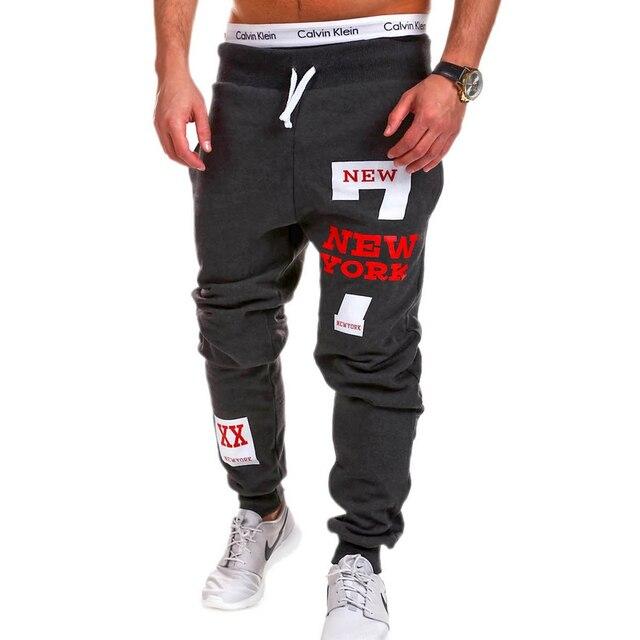 Mens Joggers 2018 Brand Male Trousers Men Pants Casual Solid Alphanumeric printing Pants Men's Sweatpants Jogger Large Size XXXL 6