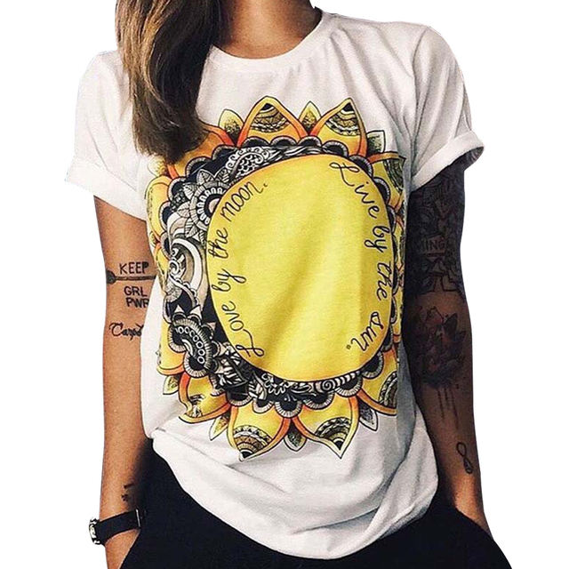 01febfdf Tshirt 2019 Summer Women Designer Clothing T-shirt Print Punk Rock Fashion  Graphic Tees European T Shirt Owl Letters Eye Print
