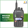Dual Band Envío gratis 199 Canales 1700 MAH Li-ion IP-55 Impermeable Walkie Talkie Wouxun KG-UV6D