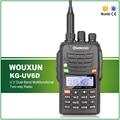 Free Shipping Dual Band 199 Channels 1700MAH Li-ion Battery IP-55 Waterproof Wouxun Walkie Talkie KG-UV6D