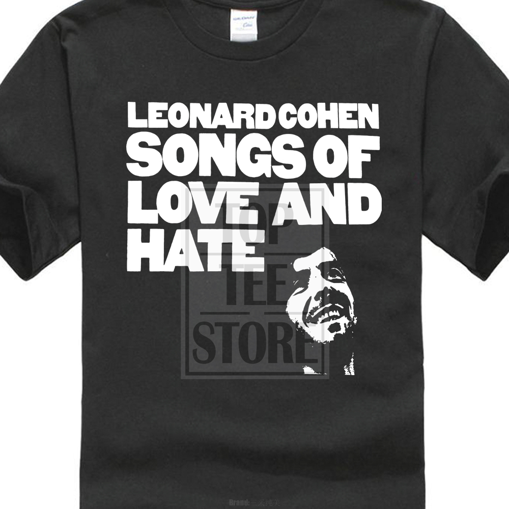 Hot Leonard Cohen Songs Of Love And Hate Mens Black T Shirt Size S 3Xl image