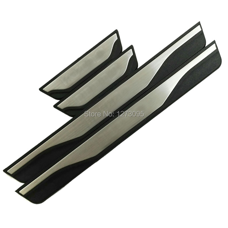 For Mazda 3 2014 2015 2016 2017 Stainless Door Sill Scuff Plate Guard Pedal Protector Cover Trim Sticker Car Styling Accessories for buick lacrosse excelle gt excelle xt verano light led moving front door scuff sticker sill plate pedal protector styling wh