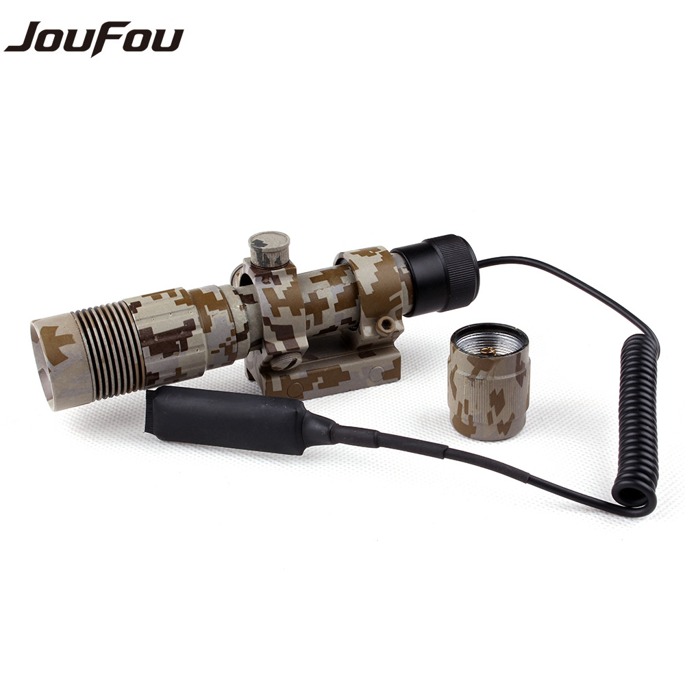 Hunting Accessories Tactical Camo Camouflage Style Adjustable Green Laser Sight Picatinny Weaver Mount with Flashlight