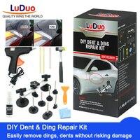 LuDuo DIY Dent Repair Tools Remove Fix Dent Car Body Glue Puller Tabs Suction Cut Hail Damage Easy Paintless Repair Removal Kits