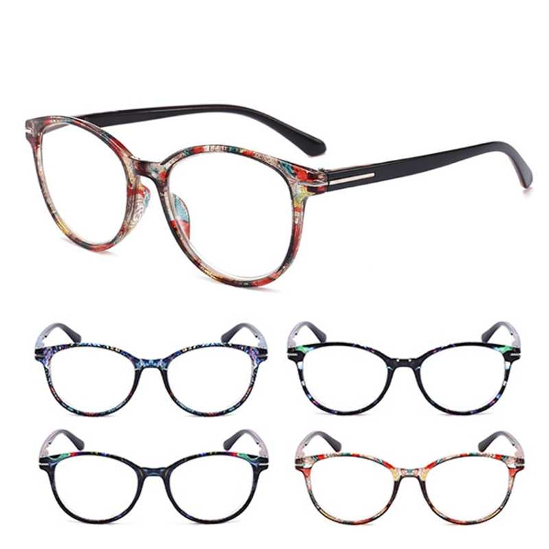 Fashionable Style Women Men Vintage Round Reading Glasses Readers +1.0 - +4.0