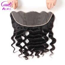 Ариэль бразильский свободная волна человеческих волос Фронтальная Закрытие 13*4 Реми натуральный цвет волос Бесплатная доставка натуральный цвет
