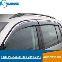 Window Visor for PEUGEOT 308 2011-2015 side window deflectors rain guards SUNZ