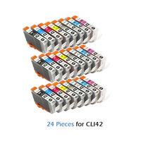 24pcs compatible Ink Cartridge For canon CLI42 CLI 42 CLI 42 For Canon PIXMA Pro 100 100S Printer cartridges Pro 100 100S
