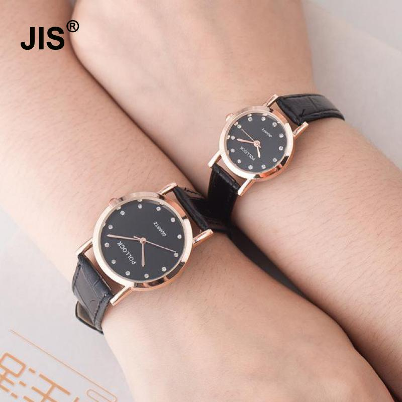100% New Luxury Rose Gold Bling Crystal Leather Quartz Wristwatches Wrist Watch Clock for Men Male Women Ladies Couple cute rose gold crystal flower thin strap small dial leather quartz women ladies wristwatches wrist watch gift