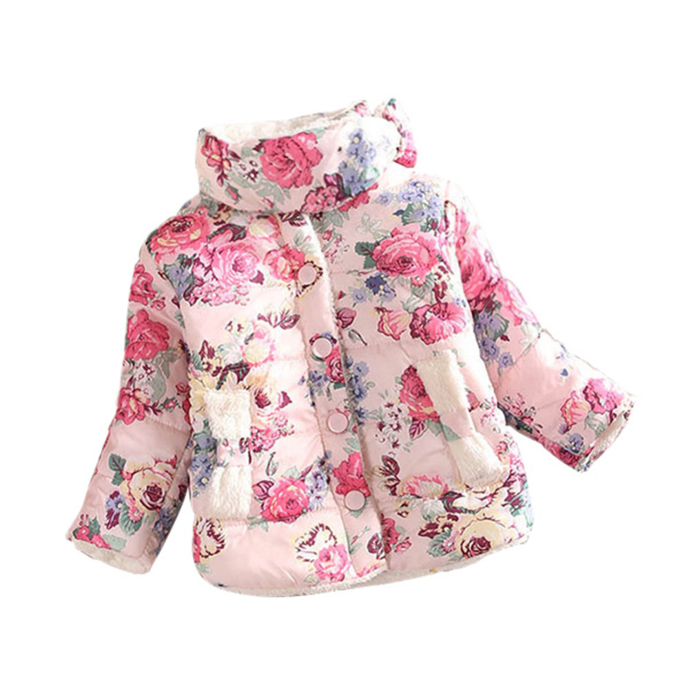 Warm Princess Girls Floral Thick Outerwear Long Sleeve Jacket Cotton Coat куртка утепленная adrixx adrixx ad021ewhrf82