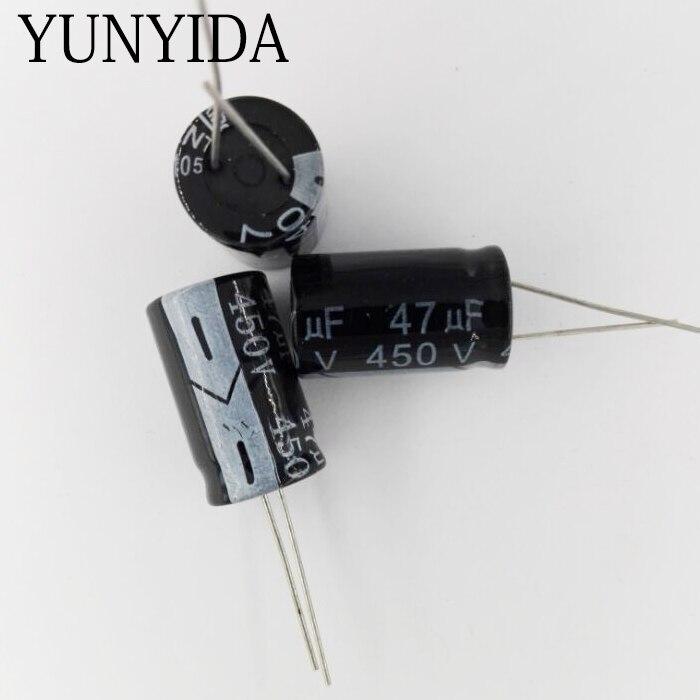 47UF  450V     5PCS   Aluminum Electrolytic Capacitor   16*25MM