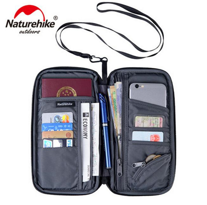 Naturehike Unisex Waterproof Multi Function Outdoor Sports Travel Wallet Bag For Cash Passport Cards Travel Hiking in Climbing Bags from Sports Entertainment