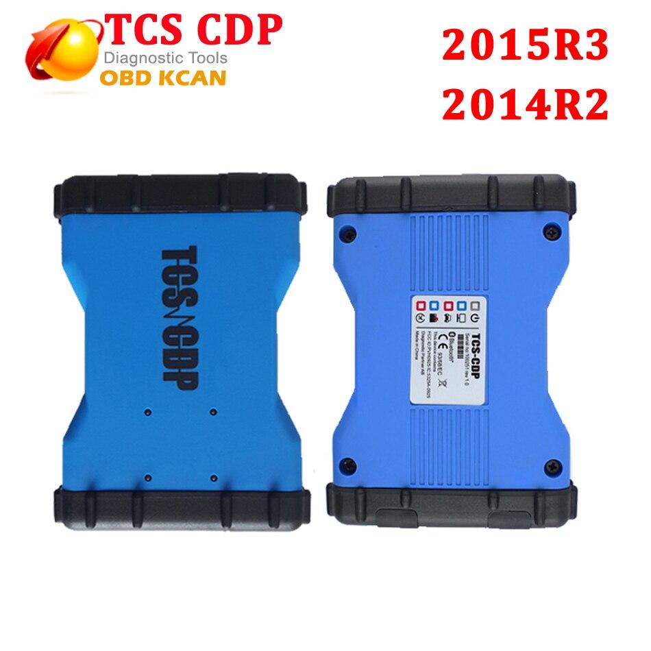 Цена за Новый VCI TCS CDP с/без bluetooth tcs cdp pro plus автомобилей/грузовик диагностический инструмент 2015R3 программного обеспечения mvdiag multidiag pro