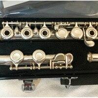 Music Fancier Club Japan Intermediate Standards Flutes MFCFL 281 Silver Plated Flute Ring Keys 16 Holes Closed Open Hole E Key