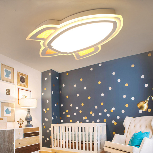 Cartoon LED Ceiling Light Children Kids Bedroom Panel Lamp Captain ...
