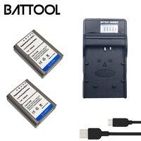 2X 7.6V 1300mAh BLN1 BLN 1 Rechargeable Li ion Battery+LCD Battery Charger For Olympus BCN1 BCN 1 E M1 EM1 E M5 OM D E P5 EM52