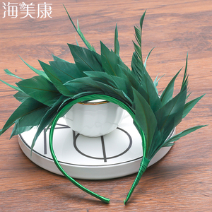 Haimeikang Feather Headdress Easter Festival Halloween Carnival Party Fashion Hair Band Dance Performance Hair Accessories(China)