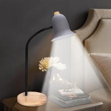 цены LED E27 Base Sample Table Lamp With 47CM Hose And Wooden Base Desk Light For Home Bedroom Study 220V CN Plug