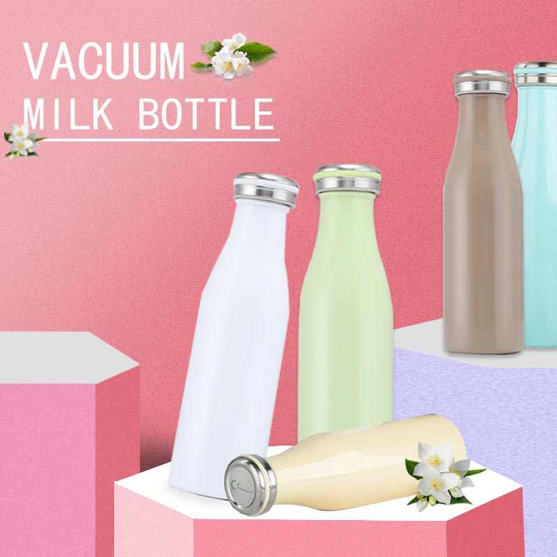 Bpa-free Insulated 500ml Milk Vacuum Flasks 304stainless steel Thermos Cup Thermals Water Bottle Sports Travel Coffee Mugs