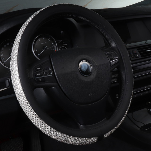 Car Steering Wheel Cover Accessories Non Slip Leather For Peugeot Partner Te Porsche Cayenne Macan Panamera