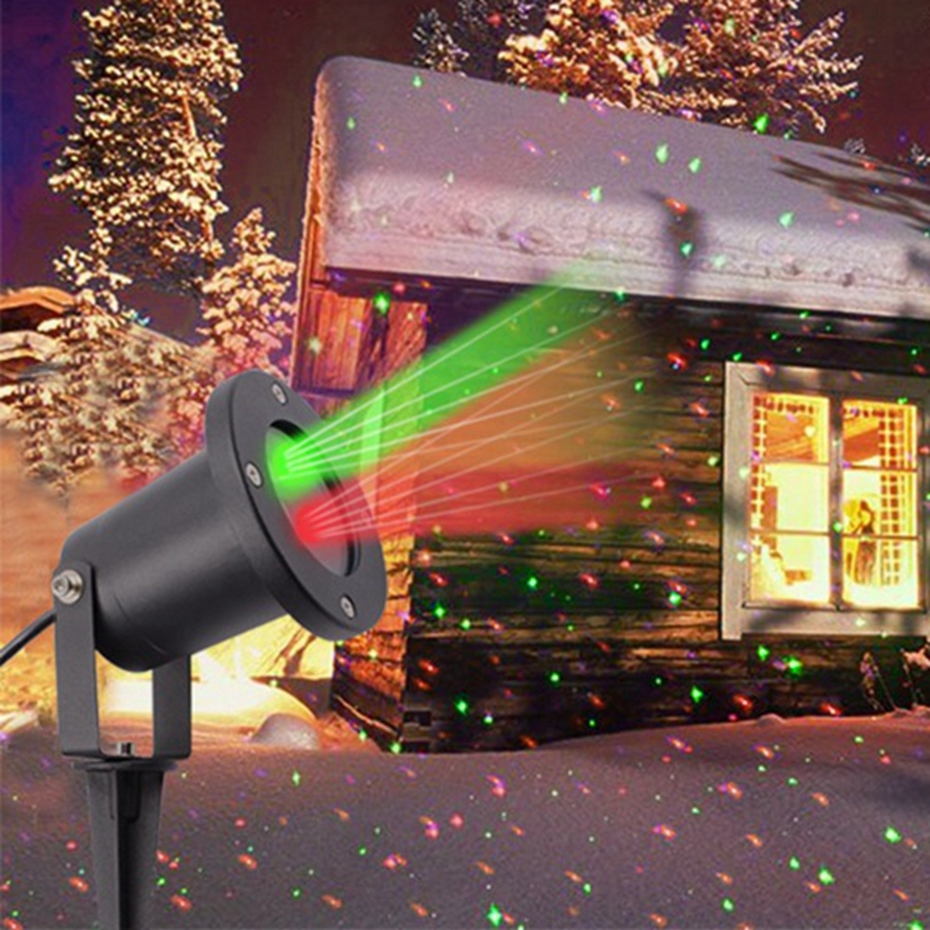 HoozGee Flood Lights Star Colorful Projector Lamp Christmas Laser Spotlights LED for Lawn Garden Home Party KTV USA Plug freeshipping 2 mtr x 4 mtr p18 matrix led rgb dj party garden star video curtain backdrop for home garden birthday party