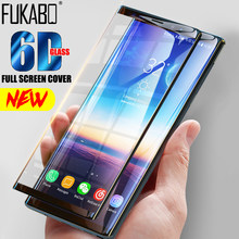 6D Full Curved 5D Tempered Glass For Samsung Galaxy S8 S9 Plus 3D Screen Protector Film S7 Edge Note 8 9 A6 A8 2018 Cover Case(China)