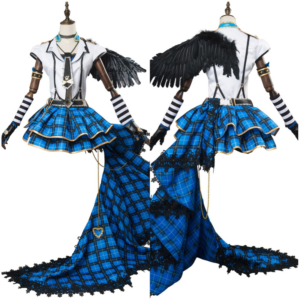 Amour En Direct! soleil Watanabe Bouquet Punk Rock Outfit Adulte Femmes Ensembles Complets Cosplay Costume Halloween Carnaval Cosplay