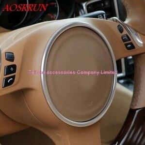 Image 2 - 3色オプションステアリングホイール修正された車の特別な装飾的なサークルポルシェカイエン用パナメーラs 911ボクスター3Dステッカー