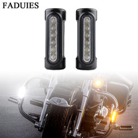 FADUIES Motorcycle Accessories Highway Bar Switchback Driving Light White Amber for Victory Crash Bars For Harley Touring Models