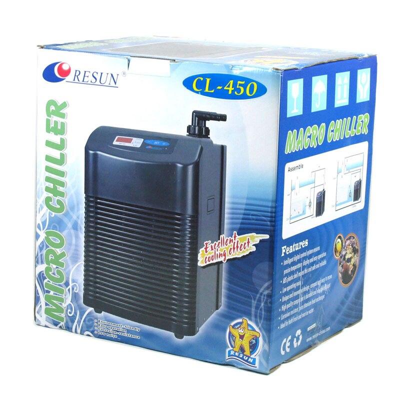 RESUN CL450 CL 450 enfriador. Equipo de refrigeración del tanque de peces de camarón de arrecife de Coral marino de 1/6 HP. máquina de refrigeración del tanque de peces agua-in Filtros y accesorios from Hogar y Mascotas    1