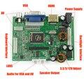 1 Pc Universal HDMI VGA 2AV Controlador de Áudio e Vídeo 30 P LVDS Módulo Board Kit Monitor para Raspberry PI 3 LCD Display LED painel