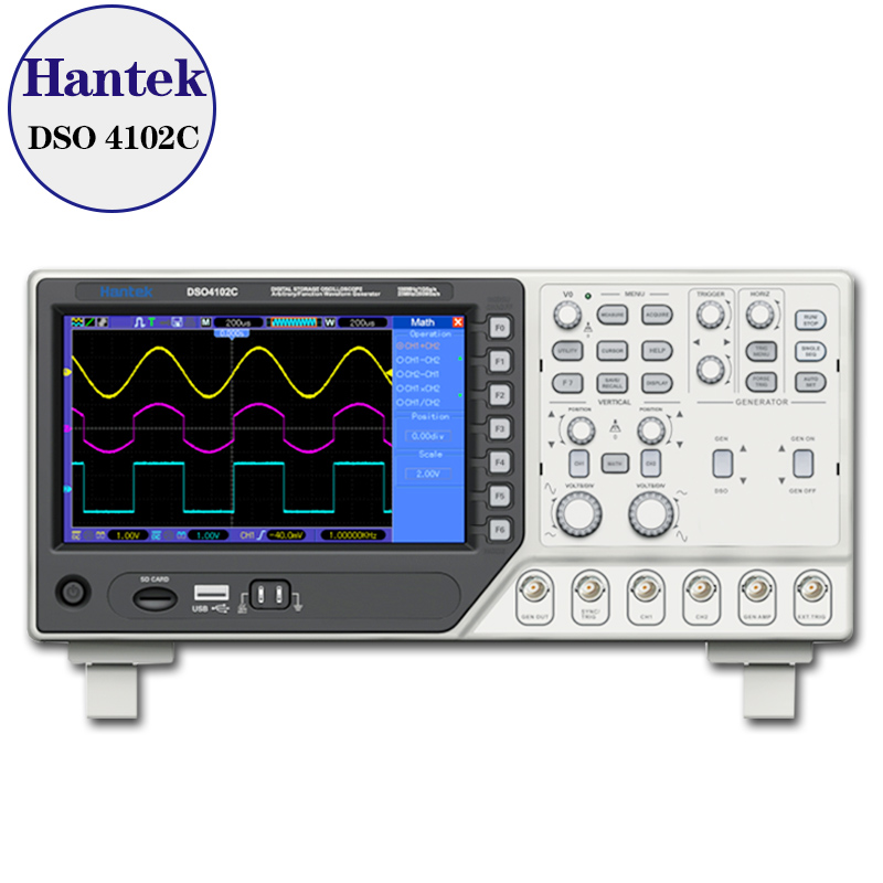 Hantek DSO4102C 2 Channel Digital Oscilloscope 1 Channel Arbitrary/Function Waveform Generator