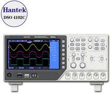Hantek osciloscopio Digital de 2 canales DSO4102C, generador de forma de onda de 1 canal aleatorio/función