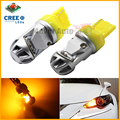2pcs Amber Yellow High Power CRE E 7440 992 7440A LED Bulbs for Front Rear Turn Signal Tail lights,Daytime Running DRL Lights