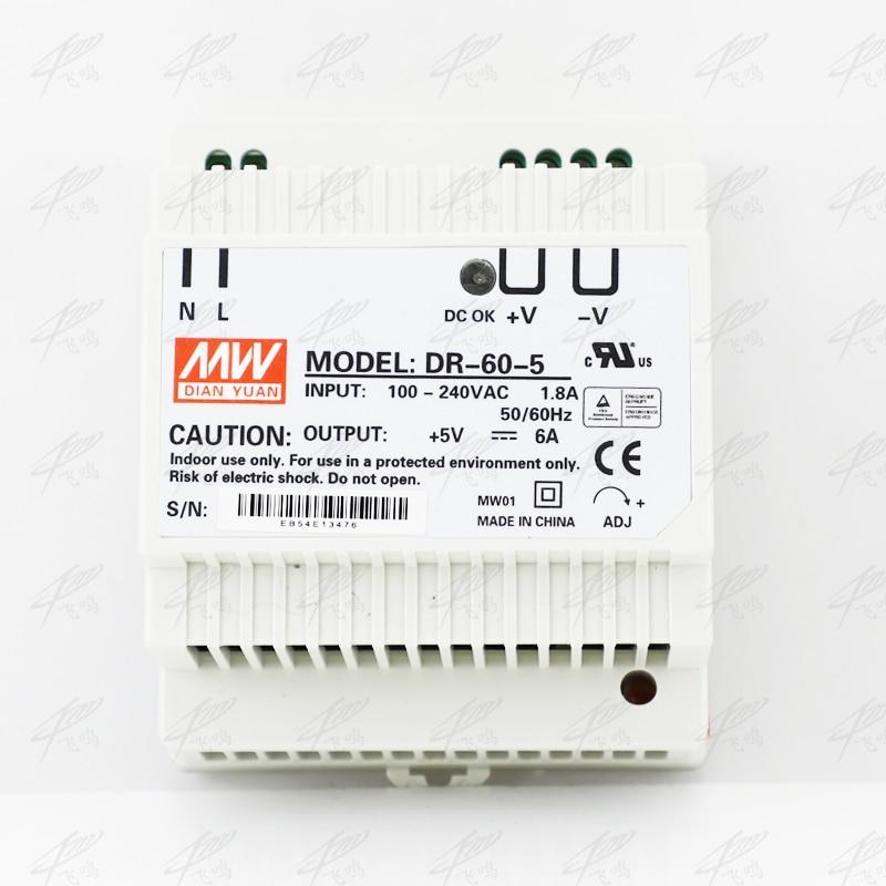 цена на Din rail power supply 60w 5V power suply 5v 60w ac dc converter dr-60-5 good quality