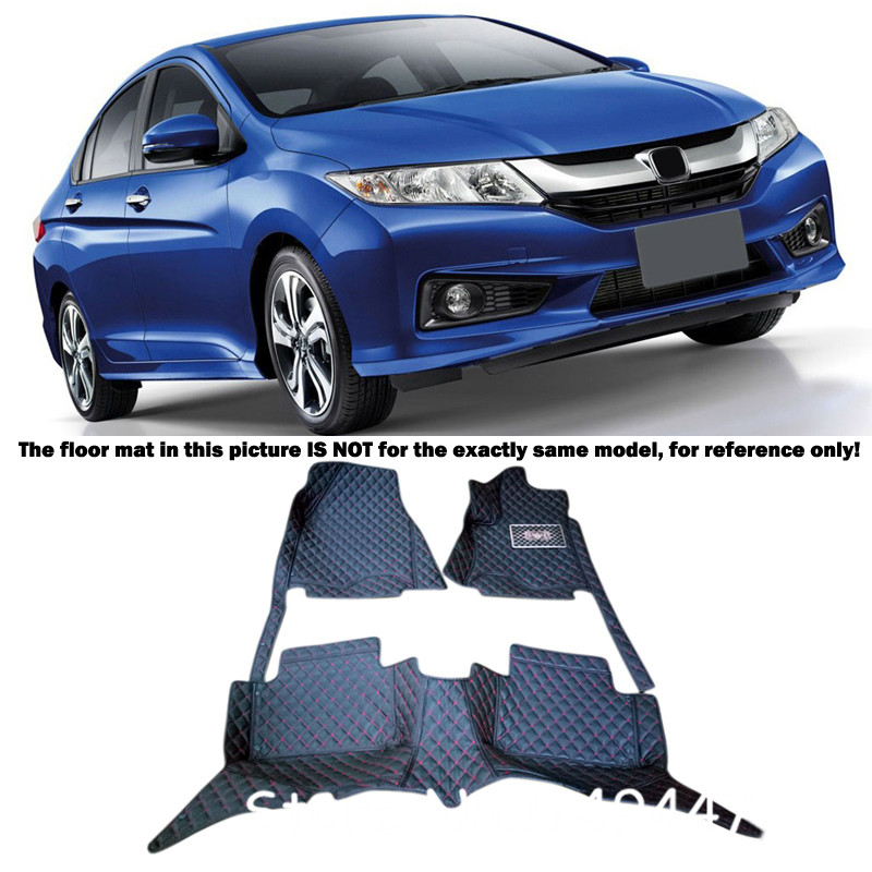 Interior Leather Custom Car Styling Auto Floor Mats & Carpets Pads For Honda City 2015 2016
